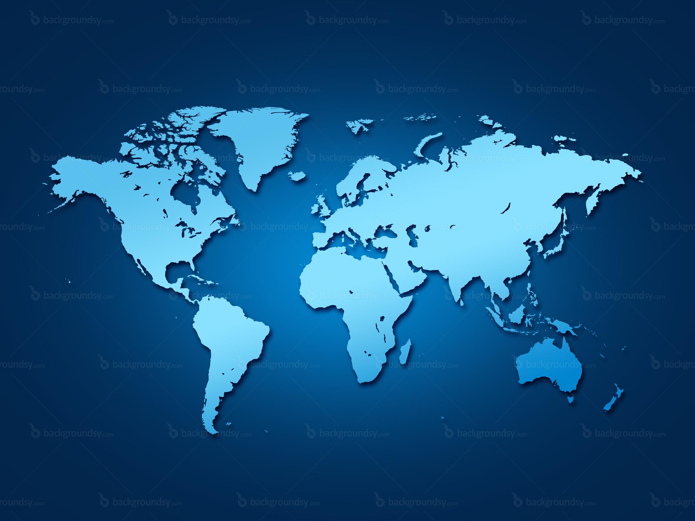 Blueworldmap Dream Achievers Academy - World map image